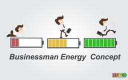 Il concetto di energia dell'uomo di affari Immagini Stock Libere da Diritti