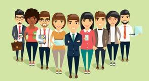 Il concetto di giovane gruppo di affari si è diretto dal capo fotografie stock