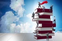 Il concetto di istruzione con i libri e la gente Fotografia Stock Libera da Diritti