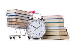 Il concetto di istruzione con i libri su bianco Immagine Stock Libera da Diritti