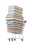 Il concetto di istruzione con i libri su bianco Fotografia Stock Libera da Diritti