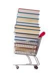 Il concetto di istruzione con i libri su bianco Fotografia Stock