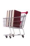 Il concetto di istruzione con i libri su bianco Fotografie Stock Libere da Diritti