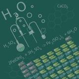 Il concetto di istruzione nel campo di chimica Fotografie Stock