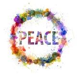 Il concetto di pace, acquerello spruzza come segno Immagine Stock