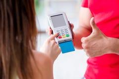 Il concetto di pagamento con il terminale di posizione Fotografie Stock