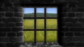 Il concetto di privazione di libertà Dietro la parete un bella vita Immagine Stock
