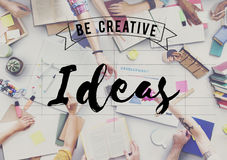 Il concetto di progetto creativo di idee pensa il concetto Immagine Stock