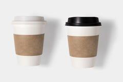Il concetto di progetto della tazza di caffè del modello ha messo su backg bianco Immagini Stock