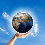 Il concetto di protezione del mondo. Fotografia Stock Libera da Diritti