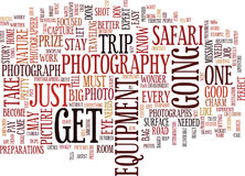 Il concetto di Safari Text Background Word Cloud di fotografia Fotografie Stock Libere da Diritti