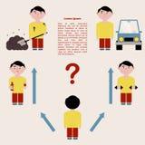 Il concetto di scelta del percorso della vita di una persona Infographics Illustrazione di vettore illustrazione di stock