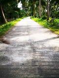 Il concetto di serenità della campagna Strada vuota del concreate Immagini Stock Libere da Diritti