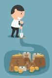 Il concetto di soldi ed il ricco verranno a voi se lavorate l'ha Fotografie Stock Libere da Diritti