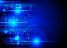 Il concetto di tecnologia digitale, cifre numera e sottrae il circuito o illustrazione di stock