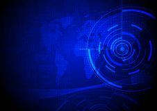 Il concetto di tecnologia digitale, cifre numera e sottrae il circuito o royalty illustrazione gratis
