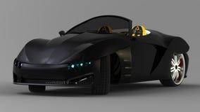 Il concetto di un coupé dell'automobile sportiva è un convertibile Sintonizzazione esclusiva e stilizzata delle automobili elettr illustrazione vettoriale