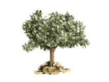 Il concetto moderno del profitto dall'investimento nel bitcoin 3d rende Fotografia Stock Libera da Diritti