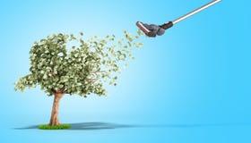 il concetto moderno del profitto l'aspirapolvere emette le banconote in dollari g Immagini Stock Libere da Diritti