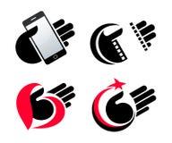 Il concetto obietta le icone disponibile eps10 Fotografie Stock