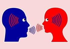 Il concetto principale della comunicazione illustrazione di stock