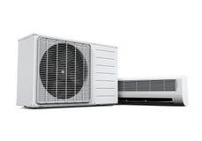Il condizionatore d'aria ha isolato Immagine Stock Libera da Diritti