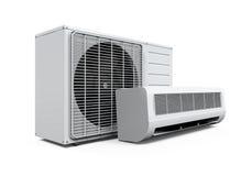 Il condizionatore d'aria ha isolato Immagine Stock