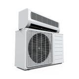 Il condizionatore d'aria ha isolato Fotografie Stock Libere da Diritti