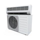Il condizionatore d'aria ha isolato Fotografia Stock