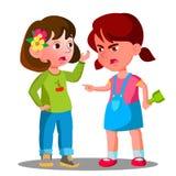 Il conflitto fra i bambini, bambini delle ragazze sta combattendo il vettore Illustrazione isolata illustrazione vettoriale