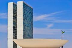 Il congresso nazionale del Brasile Fotografie Stock Libere da Diritti