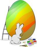 Il coniglietto di pasqua è uova della pittura. illustrazione vettoriale