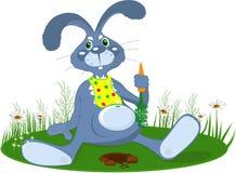 il coniglio con la carota Fotografia Stock Libera da Diritti
