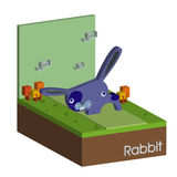 Il coniglio porpora di pasqua Vettore di concetto del coniglietto di pasqua Fotografia Stock