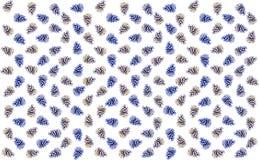 Il cono blu marrone della miscela molte copie ha messo il contesto festivo del fondo whiteern illustrazione vettoriale
