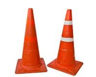 Il cono di plastica arancione Fotografia Stock