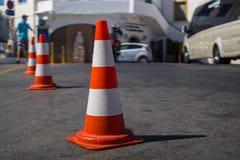 Il cono di traffico fotografia stock