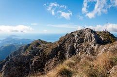 Il conquistatore della montagna Fotografie Stock