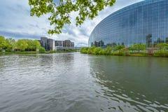 Il Consiglio d'Europa ed il Parlamento Europeo Fotografia Stock