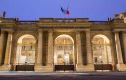 Il Consiglio di Stato alla notte, Parigi, Francia di Conseil d Etat fotografie stock libere da diritti