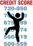 Il consumatore arrampica più meglio in su il segno della carta di credito Fotografia Stock