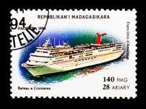Il contemporaneo spedisce - gli Stati Uniti, nave da crociera, serie delle navi, ci Fotografia Stock