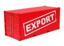 Il contenitore dell'esportazione illustrazione vettoriale