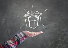 Il contenitore di regalo Immagini Stock Libere da Diritti