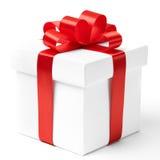 Il contenitore di regalo, con il nastro gradisce un presente Fotografia Stock Libera da Diritti