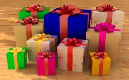 Il contenitore di regalo delle celebrità Immagini Stock