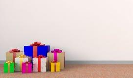 Il contenitore di regalo delle celebrità Immagine Stock Libera da Diritti