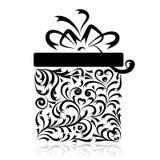 Il contenitore di regalo stylized per il vostro disegno Fotografie Stock