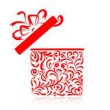 Il contenitore di regalo stylized per il vostro disegno Immagine Stock Libera da Diritti