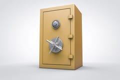 il contenitore sicuro di oro 3D rende Fotografia Stock Libera da Diritti
